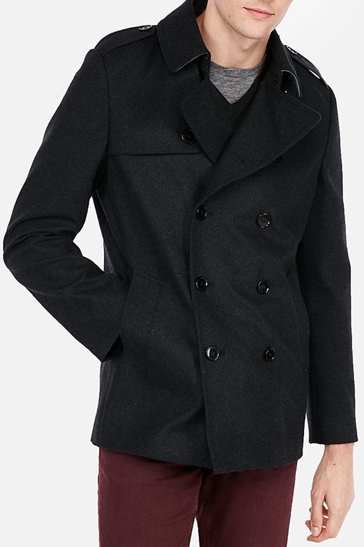5682bf517 Express Recycled Wool Water-Resistant Peacoat