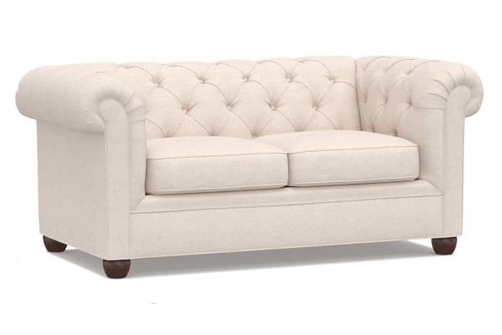 Fine Pottery Barn Chesterfield Upholstered Sofa Customarchery Wood Chair Design Ideas Customarcherynet