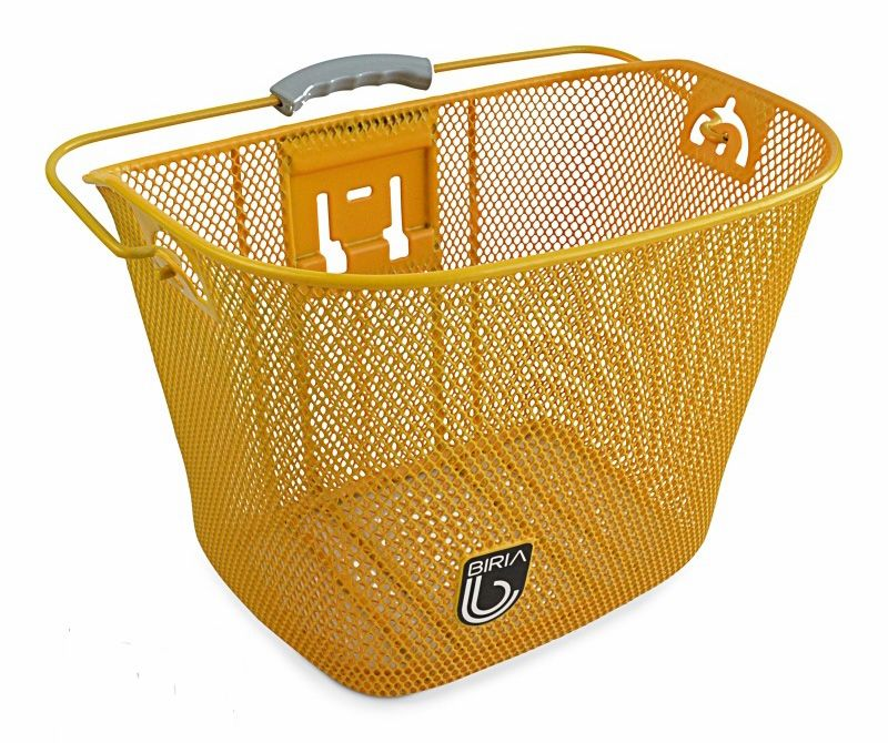 NEW Bicycle Basket Printed I Love My Bike Front Wire Mesh Bottom Childrens Adult