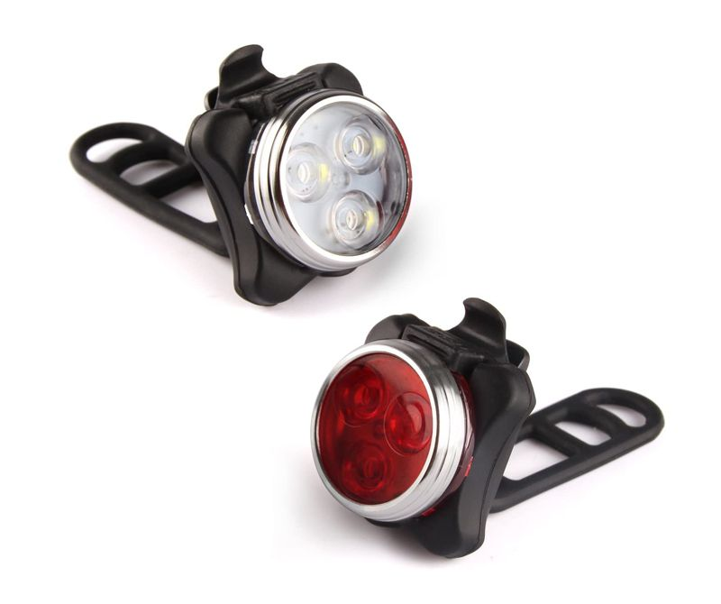 Waterproof 9LED Bike Bicycle Safety Front Tail Light Lamp Back Rear Flashlight